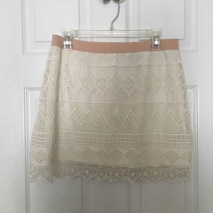 American Eagle Crochet Mini Skirt - Ivory